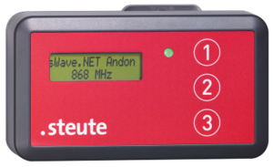 Wireless Andon push-button sWave.NET® Productimage